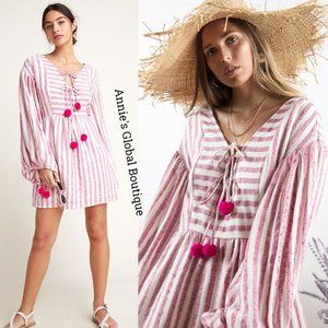RARE NWT ANTHROPOLOGIE Monroe Caftan Pommed Dress